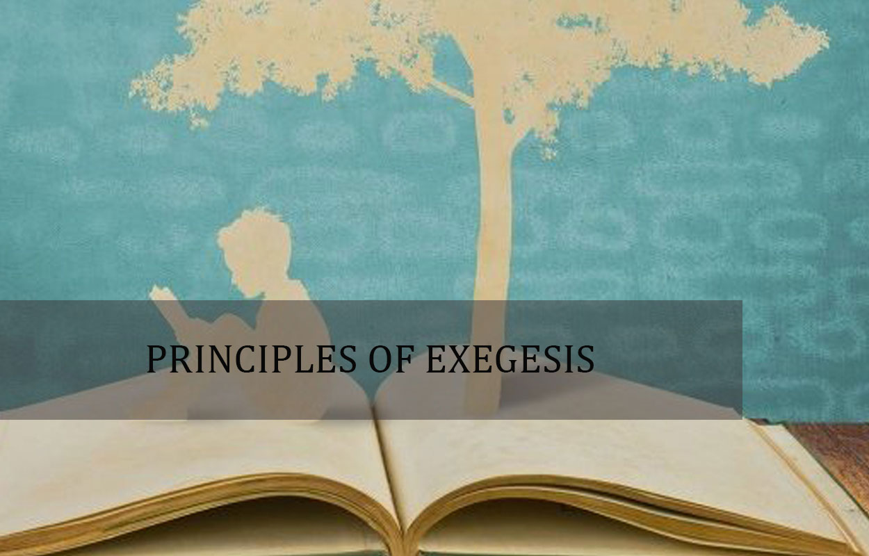 Principles of Exegesis